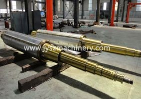customized expanding and collapsing mandrel shaft for steel aluminum coil processing line