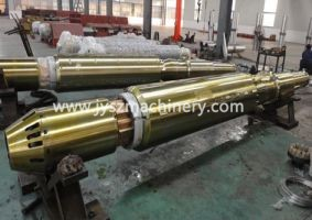 Customized mandrel shaft for steel coil processing equipments